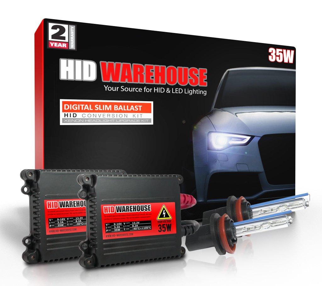 HID-Warehouse 35W HID Xenon Conversion Kit with Premium Slim Ballast - H11 8000K - Medium Blue - 2 Year Warranty