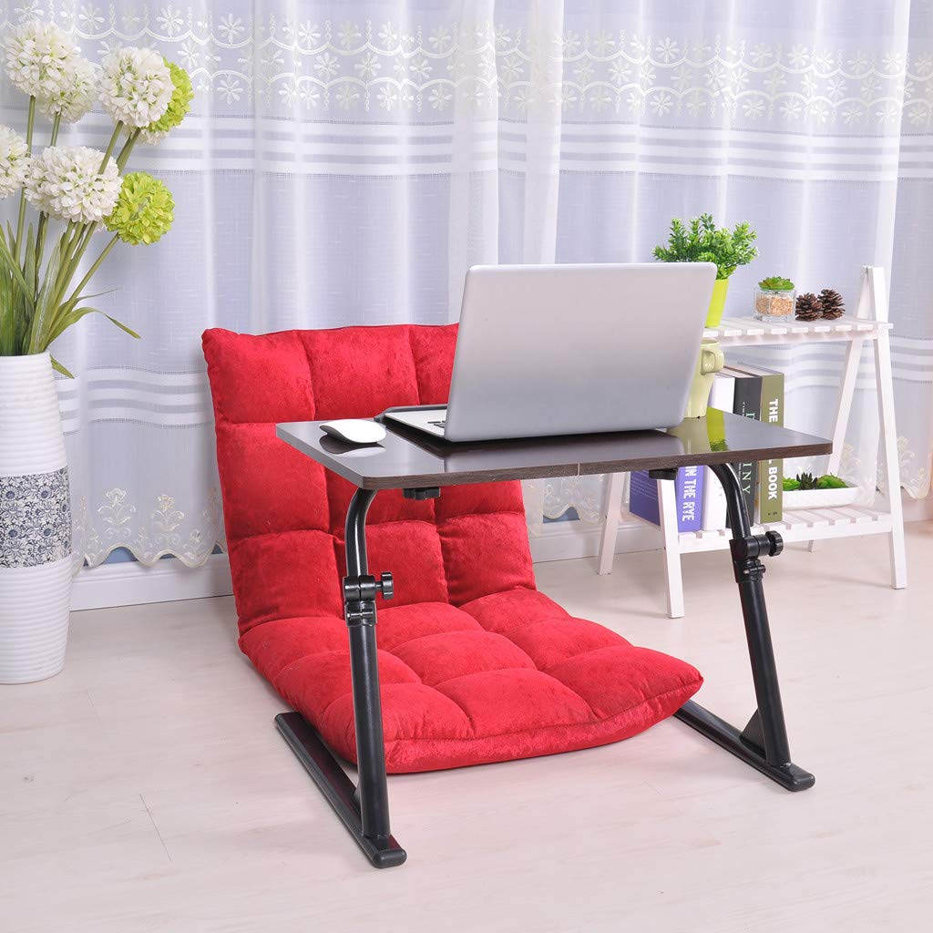 Ellymi Sofa Side Magazine Snack Table Portable Folding Chairside Coffee End Table Height AdjustableLaptop Desk Stand u Shaped Breakfast TV Tray for Sofa Couch Bed