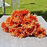 10pcs Silk Artificial Gerbera Daisy Flower Bouquet Home Office Decor
