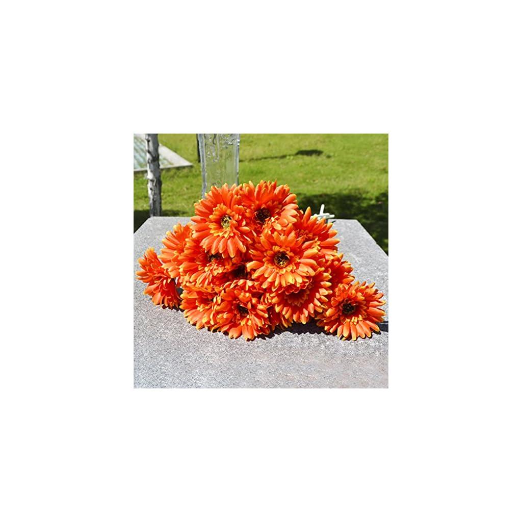 10x Silk Gerbera Daisy Artificial Flowers Bouquet Home Wedding Decoration