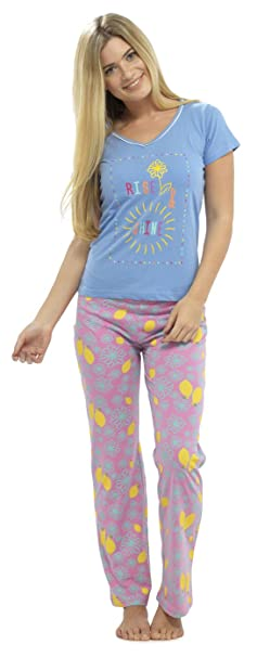 Ladies Tom Franks Winter Fun Print Short Sleeve Pyjama Set pajama Sleepwear