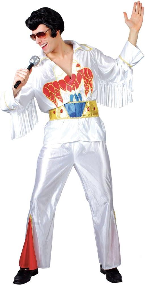 Vegas Elvis Presley Mens White Fancy Dress Costume M (disfraz ...