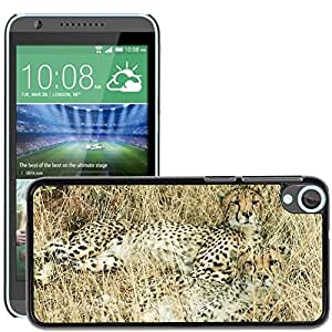 Super Stella Slim PC Hard Case Cover Skin Armor Shell Protection // M00106160 Cheetah Hunting-Leopard Feline // HTC Desire 820