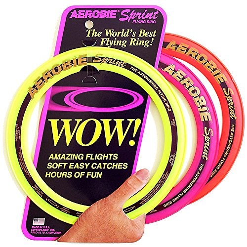 Signature Hollow Body - Aerobie 10 Inch Sprint Ring Outdoor Flying Disc - Colors May Vary