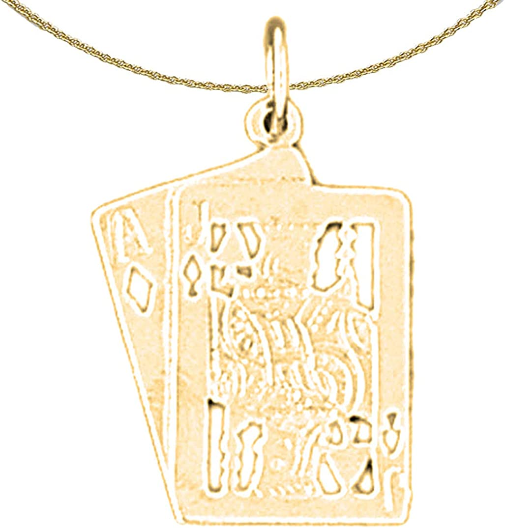 Jewels Obsession 14K White Gold Dice Pendant 15 mm