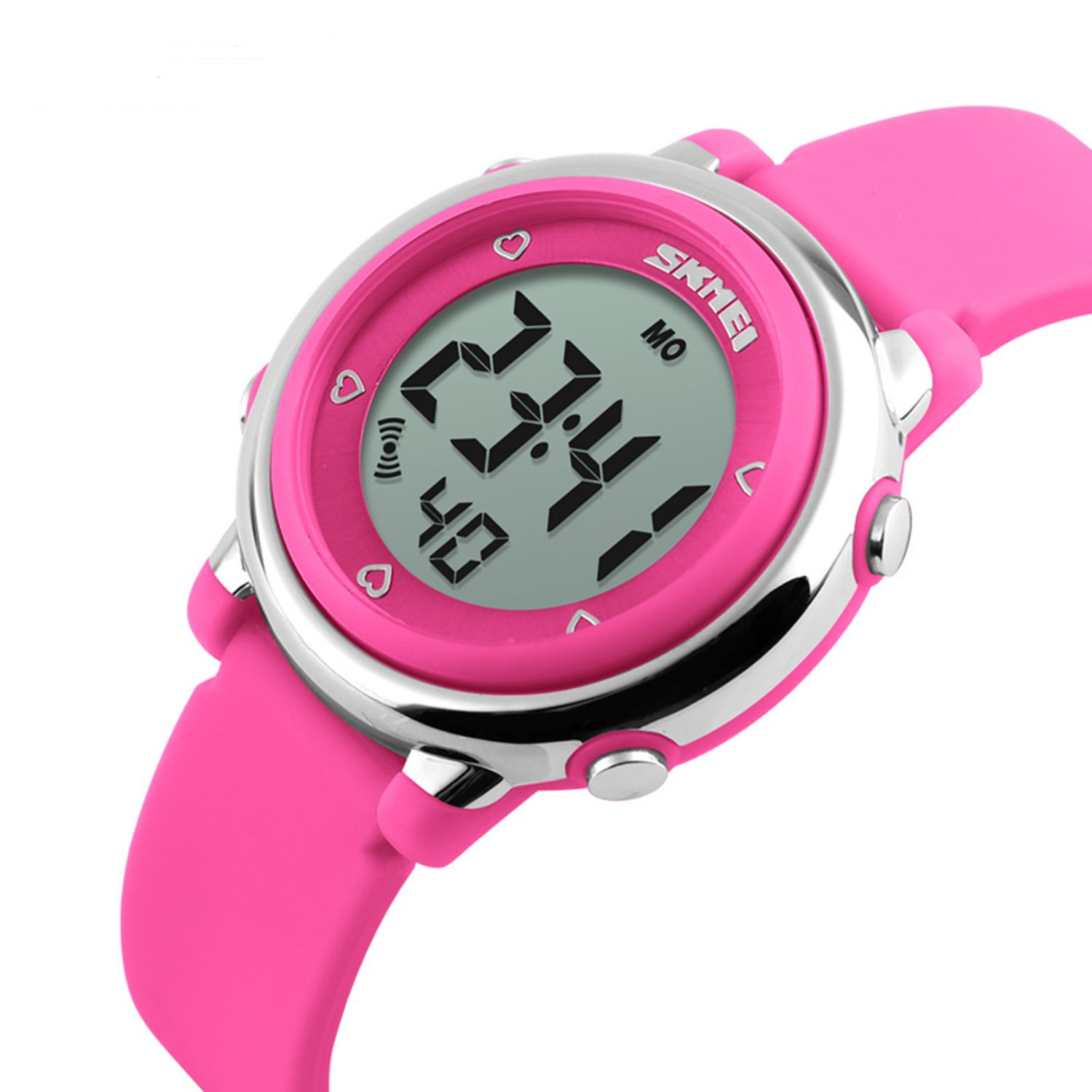 Skmei 1100 Original Fashion niños relojes banda de silicona pantalla LED resistente al agua reloj Digital Rose Red: Amazon.es: Relojes
