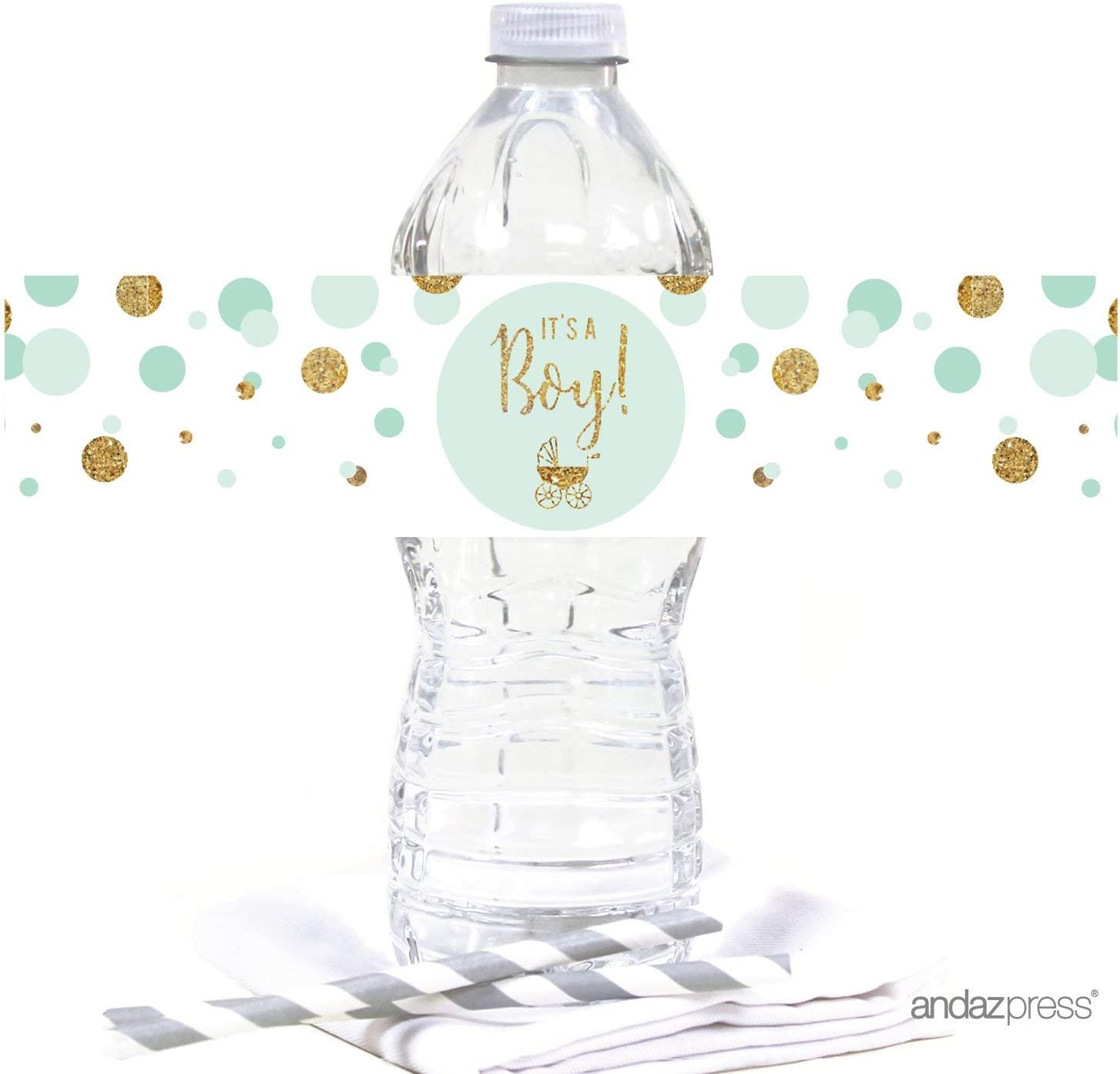 Water Bottle Labels 10-Pack Andaz Press Merry Little Christmas Collection