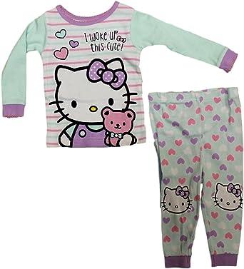 9 Months SANRIO Baby Girls Hello KittyI Woke Up This Cute Long Sleeve Pajama Set