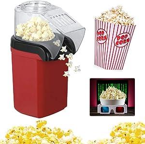 Electric Popcorn Maker Machine, 1200W Mini Household Healthy Hot Air Oil-Free Popcorn Maker Machine for Kids Children,220v