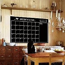Alrens_DIY(TM)Monthly Plan Weekly Plan Chalkboard Stickers Chalk Board Blackboard Removable Vinyl Wall Sticker Decor Home Office Decoration Month Week New Planer Calendar Chalkboard Decal Creative Art (Style 1)