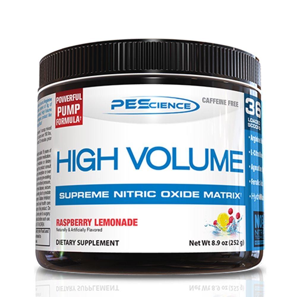 PEScience High Volume Caffeine Free Pump Pre Workout, Raspberry Lemonade, 252 Gram