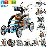 Sillbird STEM 12-in-1 Education Solar Robot Toys -190 Pieces DIY Building Science Experiment