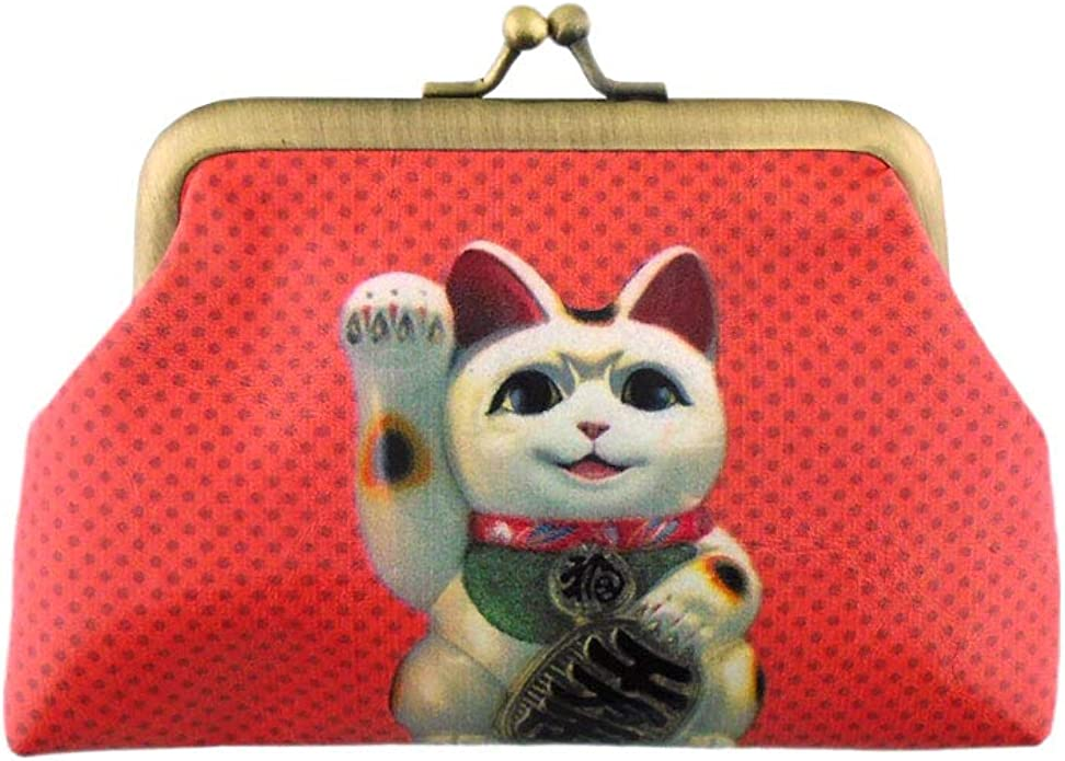 Mlavi tiger print vegan//faux leather kiss lock frame coin purse