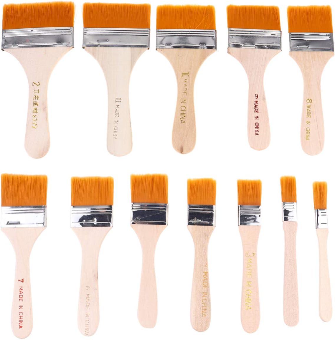 TOYANDONA 12 Pcs Nylon Brosses De Peinture Tout Usage Pinceau Pinceau Value Pack Barbecue Brosses Pinceaux Pinceaux pour Retouches De Peinture Peintres BBQ