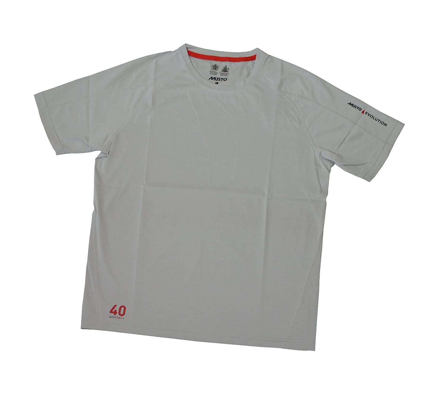 Musto Evolution Sunblock Short Sleeve T-Shirt - Platinum M