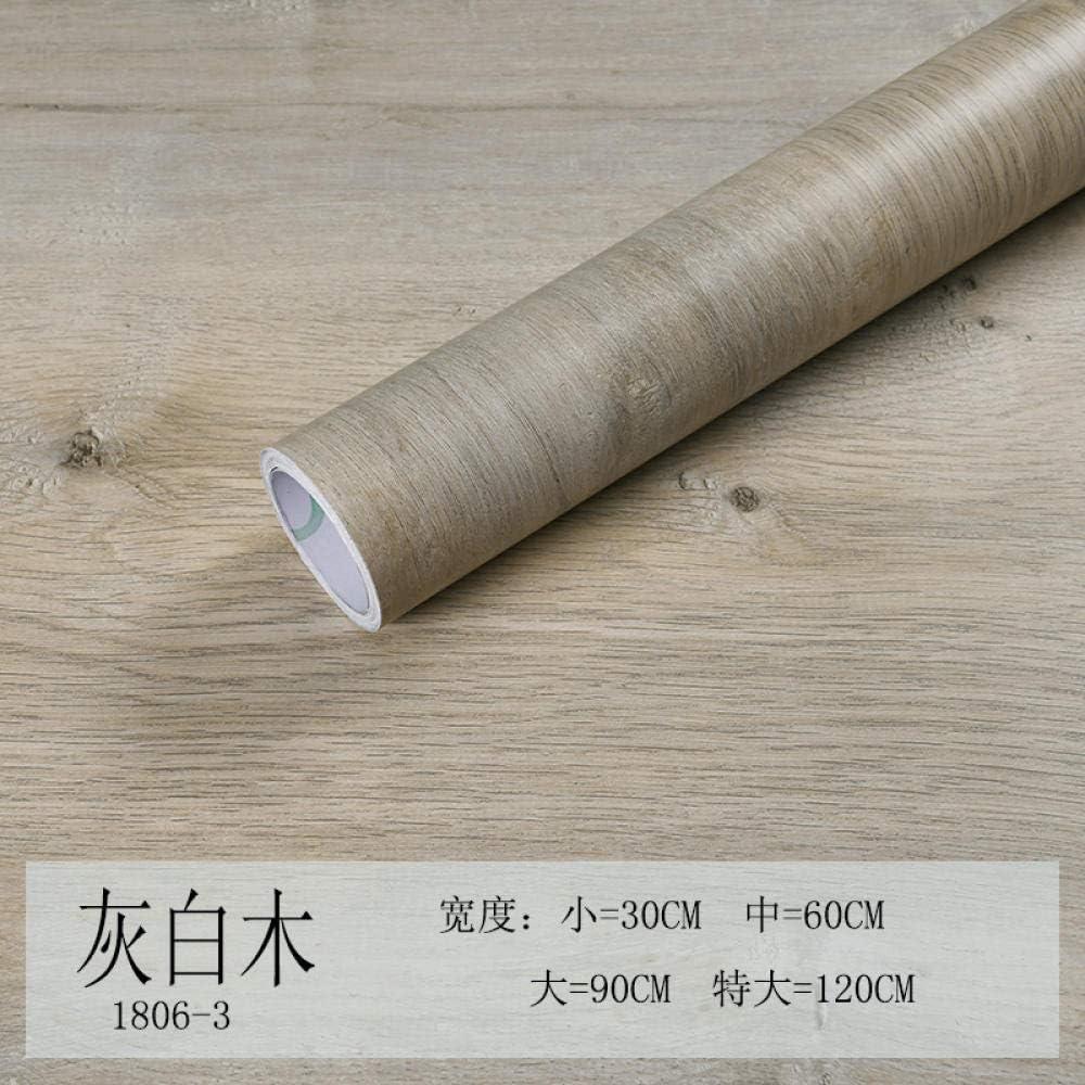 /_30 cm fond d/écran Papier peint auto-adh/ésif imperm/éable et /étanche /à lhuile grain de bois autocollant r/énovation de meubles dortoir papier peint-Bois blanc cass/é 5 m 1806-3