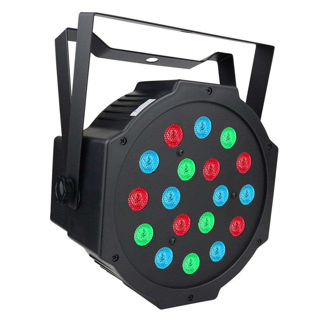 BETOPPER Par Lights 18 LED RGB 24W Par Stage Lights by DMX512 Music-activated(Sound Activated) for Wedding Show Club Bar Decoration LP005-par-fba
