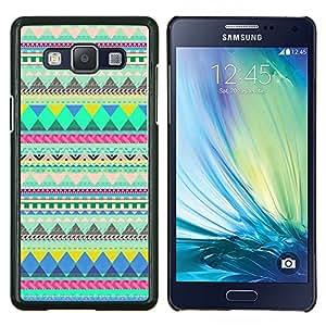 Caucho caso de Shell duro de la cubierta de accesorios de protección BY RAYDREAMMM - Samsung Galaxy A5 A5000 - patrón americano verde india nativa