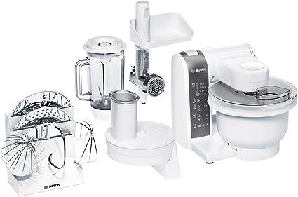 Bosch MUM4855 - Robot de cocina (3,9 L, Blanco, 1,2 m, De plástico, Acero inoxidable, 600 W): Amazon.es: Hogar