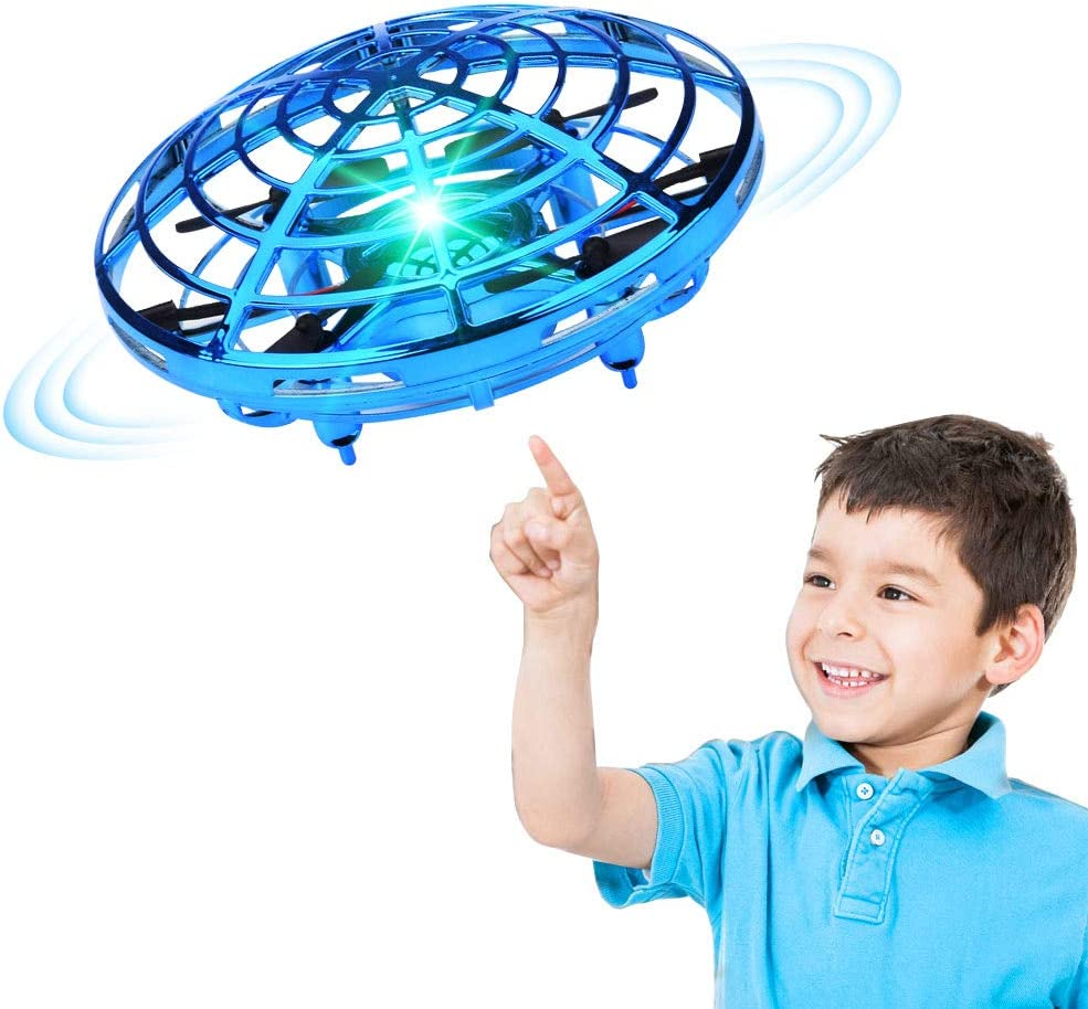 Hand Operated Drones for Kids or Adults,Hands Free Mini Drone 8 11,12 Boys and Girls 9 Blue Easy Indoor Small UFO Flying Ball Drone Toys for 6 7 10