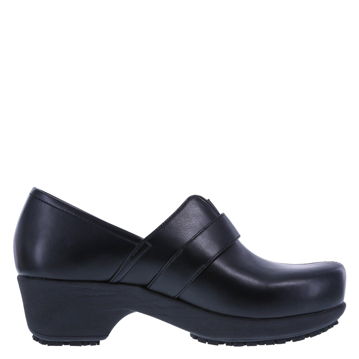 safeTstep Slip Resistant Women's Black Women's Buckle Gretchen Clog 8.5 Regular by safeTstep (Image #2)