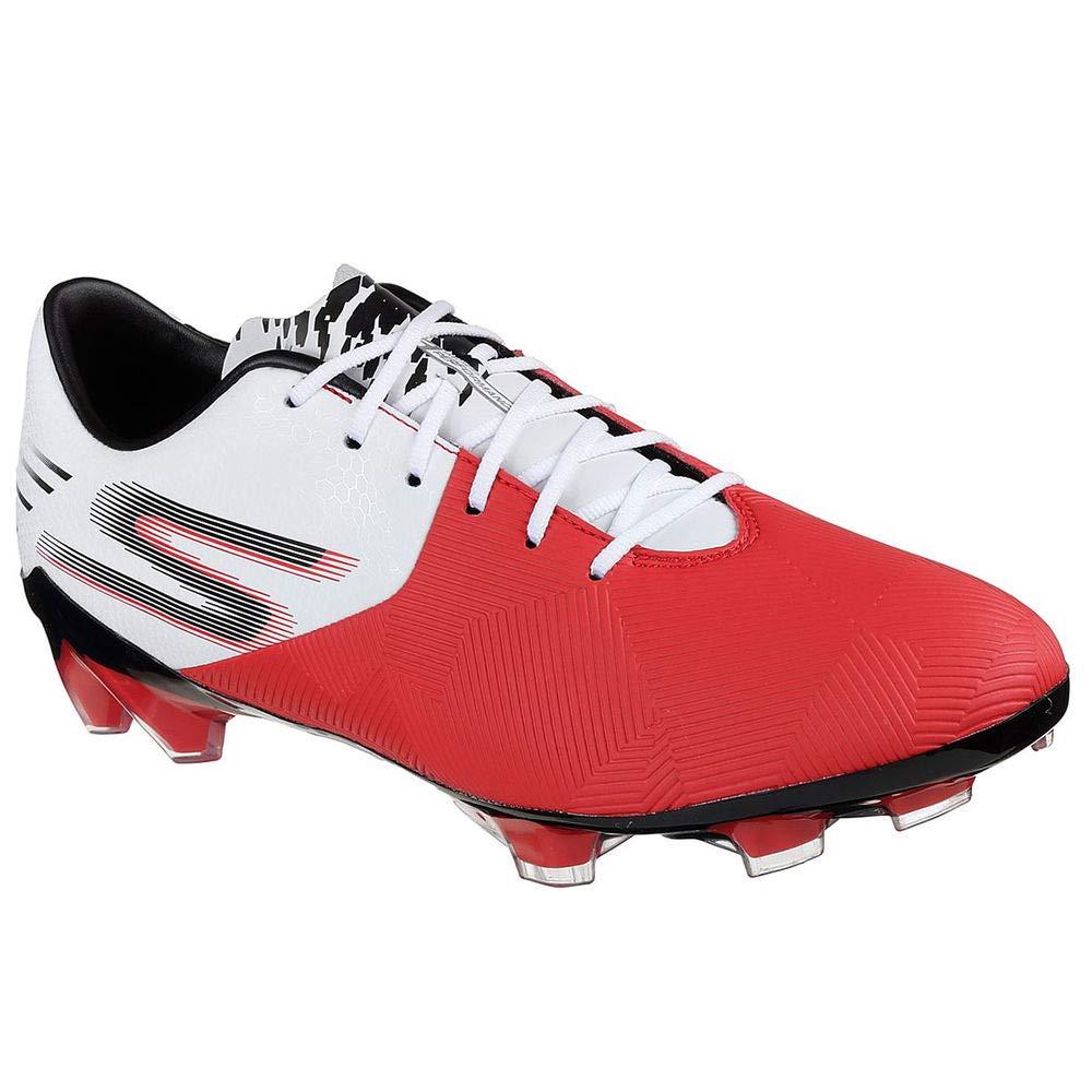 Red White 9.5 M US Skechers Men's Performance Reflex FG Soccer Cleats Red White