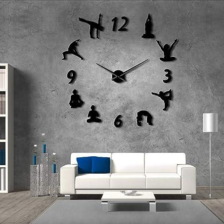 Djkaa Yoga Relojes De Pared Grandes Efecto Espejo Sala De ...