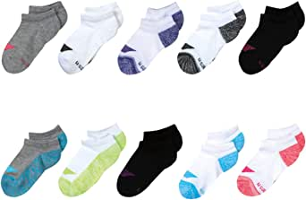 Hanes Girls' Cool Comfort No Show Socks (10 Pack)