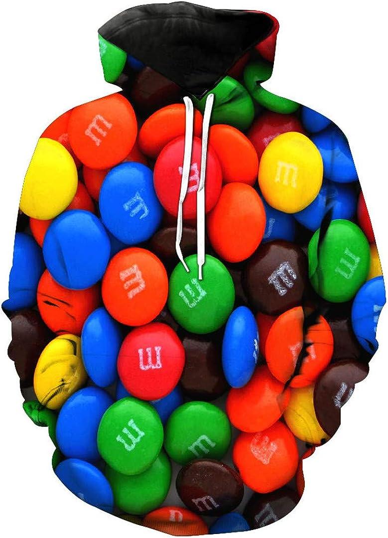 3D Hoodies Print Food Candy Delicious Slim Unisex Slim Stylish Hooded Hoodies