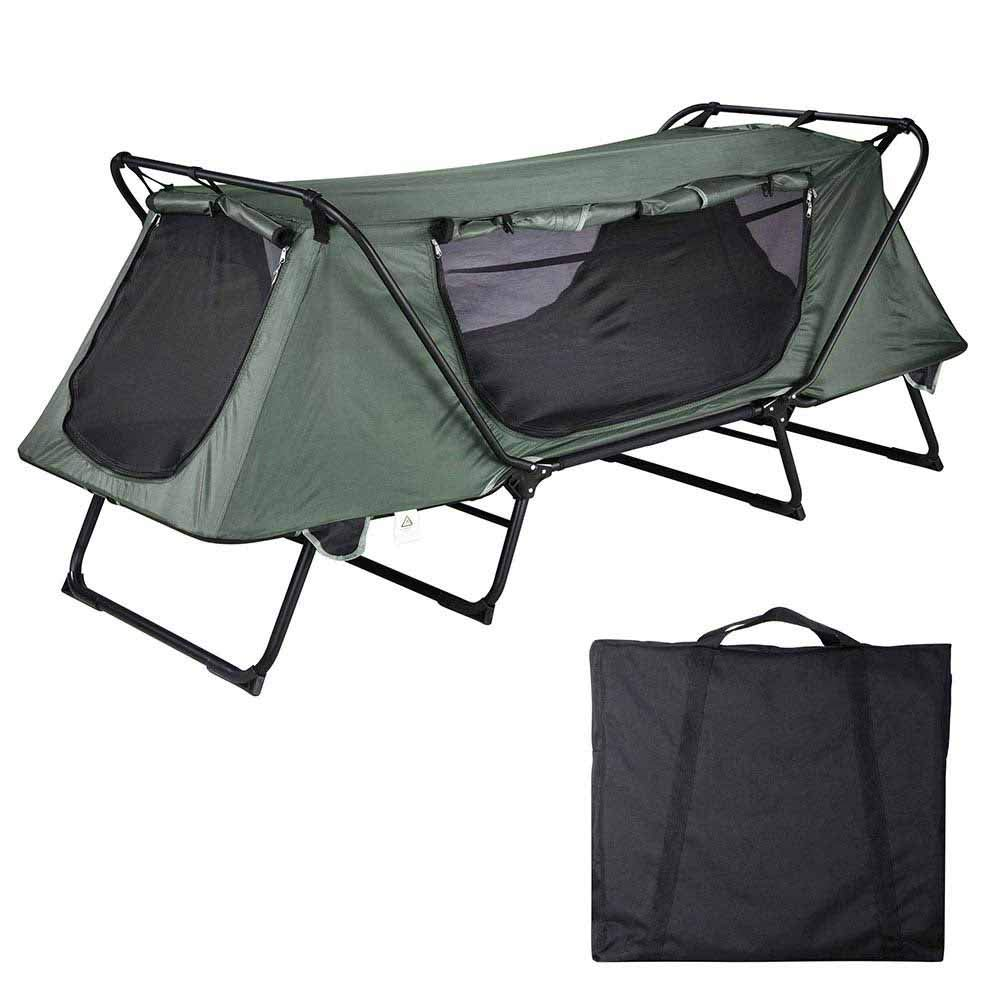 Yescom 1-Person Folding Tent Cot Waterproof Oxford with Mesh Carry Bag Portable Sleeping Bed Outdoor Camping Hiking by Yescom