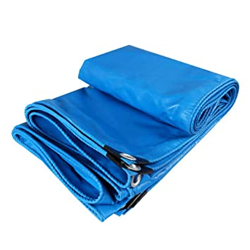 KWEE Lona de Polietileno Impermeable con Ojales, 480 g/m2, Azul ...