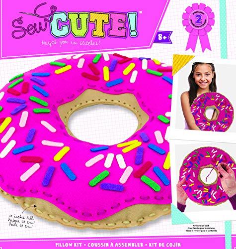 Colorbok 73976 Sew Cute Felt Pillow Donut, Multicolor ()