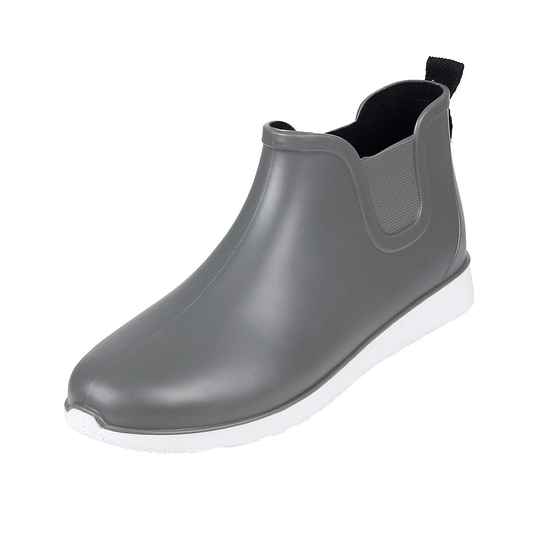 Comwarm Mens Waterproof Anti-Slip Rain Boots Casual Outdoor Sport Short Ankle Slip-on Rain Shoes