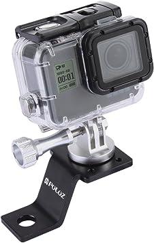 Puluz - Accesorios de moto espejo / perno, soporte fijo de metal ...