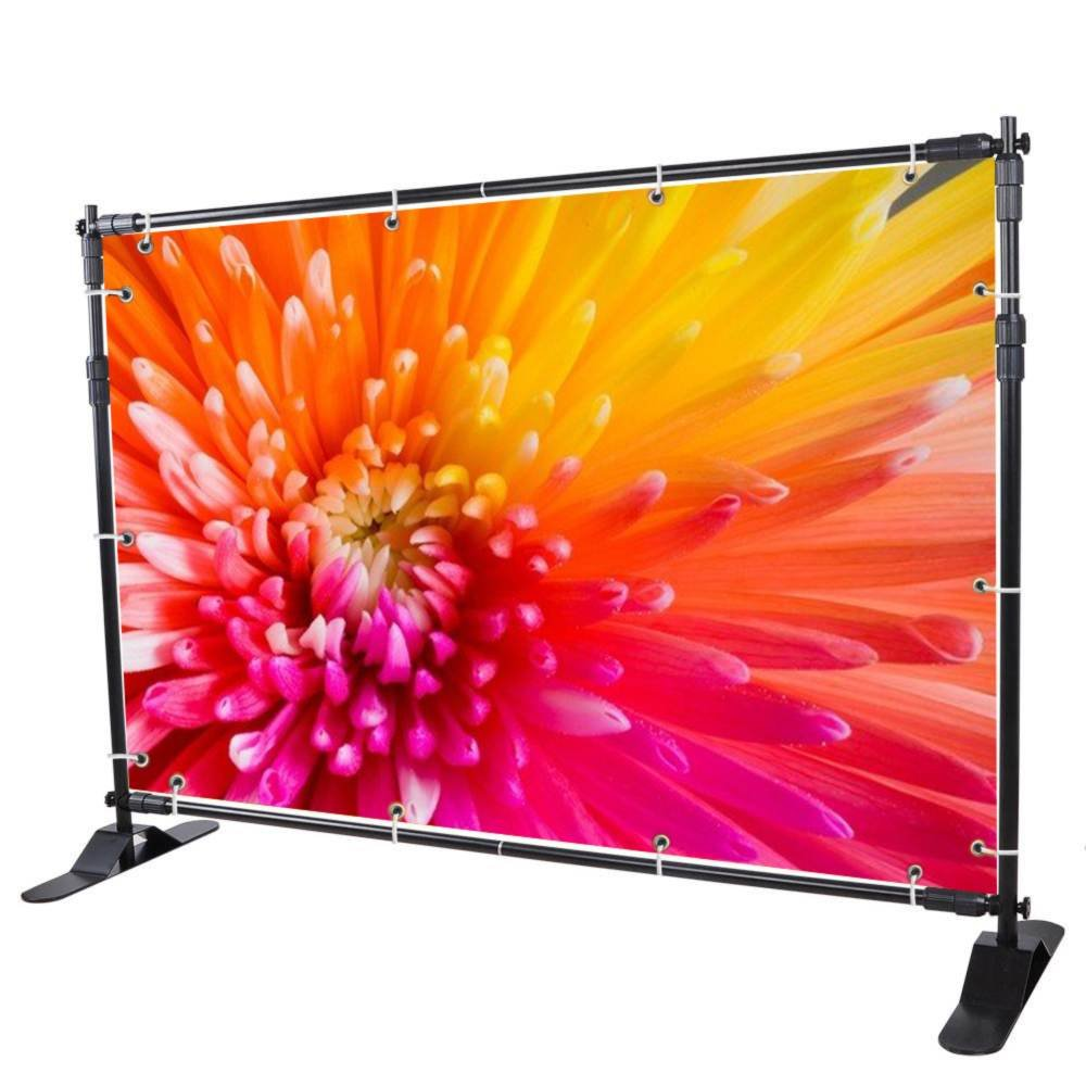 Sanven Newest Step and Repeat 8'x 8' - 10' x 8' Adjustable Telescopic Height and Width Backdrop Banner Stand