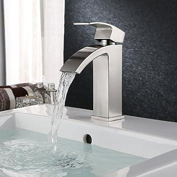 HOMFA Waschtischarmatur Wasserfall Einhebel Einhandmischer ...