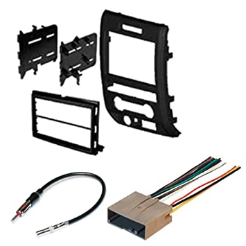 61VLom9kJbL._SY355_ amazon com ford 2009 2012 f 150 car radio stereo radio kit dash 2014 f150 radio wiring harness at gsmx.co