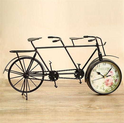 Reloj Retro Hierro Doble Bicicleta Decoración Accesorios Para El ...