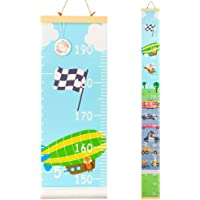 QtGirl Kids Growth Chart, Height Chart for Child Height Measurement Wall Hanging Rulers Room Decoration for Girls, Boys…