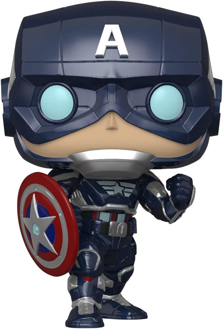 Funko- Pop Marvel: Avengers Game-Capt America (Stark Tech Suit) Figura Coleccionable, Multicolor (47757)