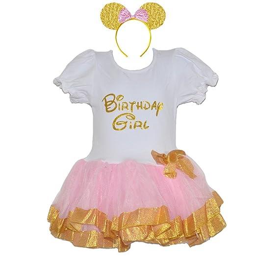 c6d1652c9 Amazon.com  GoForDance Sparkle Gold Birthday Girls Dress With Bow ...