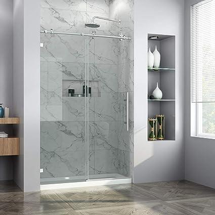 Charmant ELEGANT 48u0026quot; W X 76u0026quot; H Fully Frameless Sliding Glass Shower Door, 3