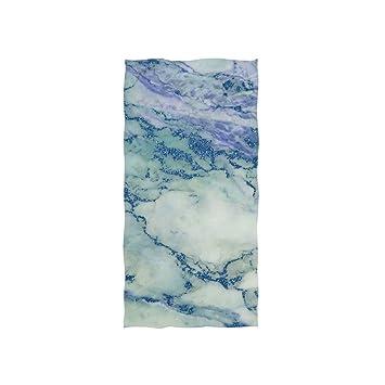 Ahomy Toallas de Mano, 38 cm x 76 cm, patrón de mármol Multiusos Toallas Extra absorbentes para baño, Mano, Cara, Gimnasio y SPA: Amazon.es: Hogar