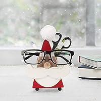 storeindya Cadeau Jour Mere, Quirky Fait Main Nez Forme en Bois de Rose Lunettes Lunettes de Soleil Support pour Decor de la Maison et du Bureau (Moustache Nez Forme marron2)