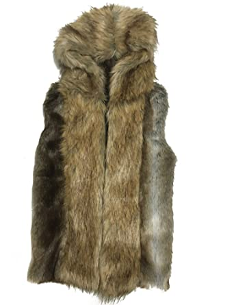 Moonwalk Men`s Faux Fur Hooded Sleeveless Vest at Amazon Men's ...