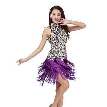 Moresave – Vestido de mujer, salsa, latina, lentejuelas, baile, competici&oacute