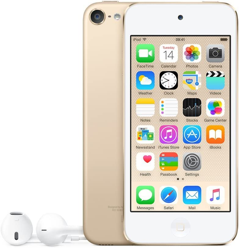 Apple iPod Touch 6th Generation 16GB Gold MKH02LL/A (Renewed)