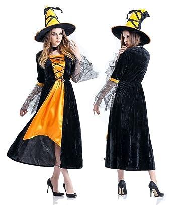 6acff7c96c85f AMARISE 魔女 魔法使い 帽子 ドレス コスプレ 衣装 ハロウィン レディース フリーサイズ (Free