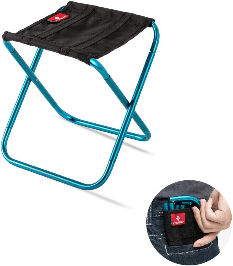 Mini Portable Stool be Put in Your Pocket-Super Compact Folding Camping Stool Support 225 lbs-Ultralight Portable Camp Stool for Fishing Gardening -Outdoor Camping Chair 10.23 9.4 8.6ines
