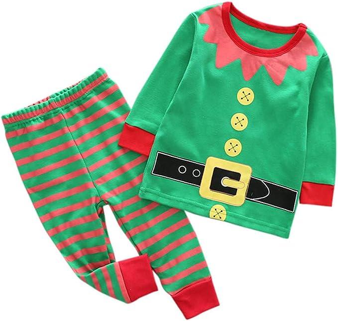 BBSMLIN Disfraz Bebe Niña Niño Navidad Conjunto Invierno Estampado ...